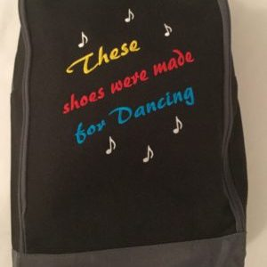Embroidered Shoe Bag (Shoes Were Made For Dancing Logo)