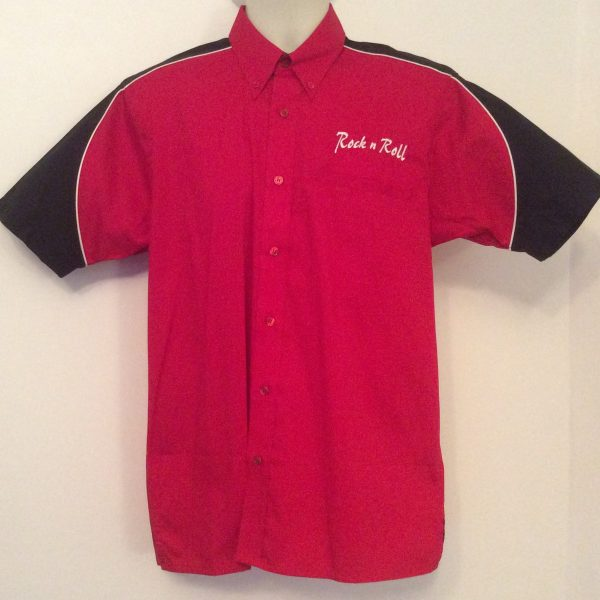 Ready Embroidered 186 Red/ Black Top (Size Small)