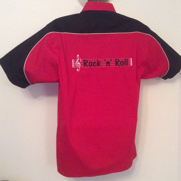 Ready Embroidered 186 Red/ Black Top (Size Large)