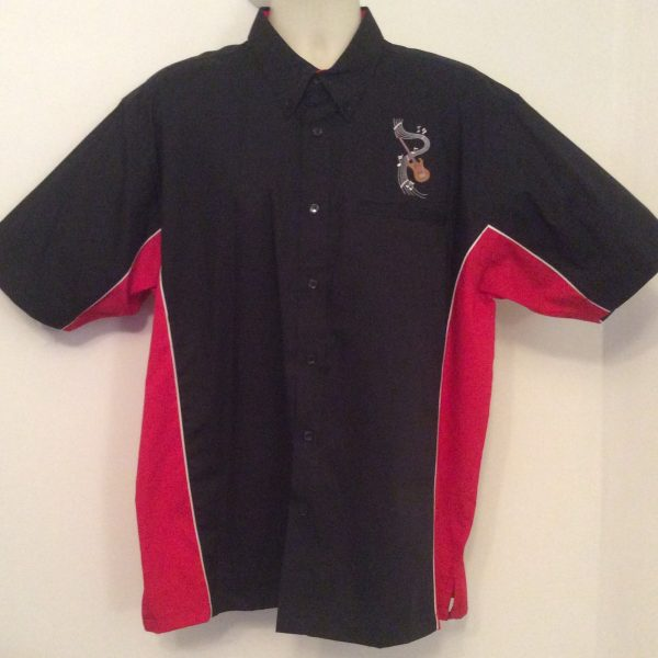 Ready Embroidered 185 Black / Red Shirt (Size XLarge