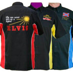 185 Style Rock n Roll Embroidered Shirt