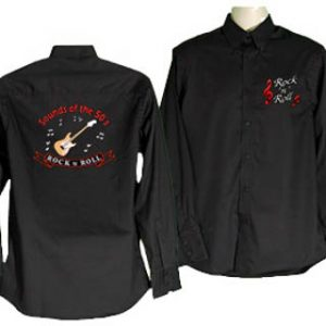 188 Style Rock n Roll Embroidered Shirt