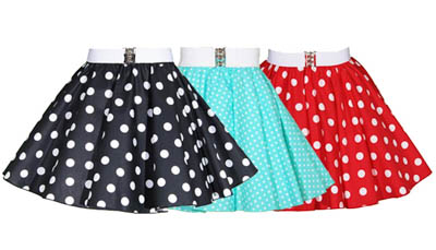Childs Polkadot Skirts
