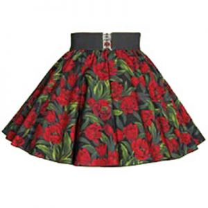 Childs Tulips Print Circle Skirt