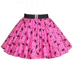 Childs Pink Flamingos Print Circle Skirt