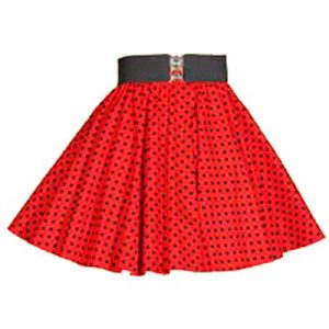 Childs Red / Black 7mm PD  Circle Skirt