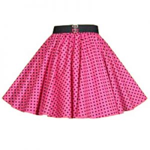 Childs Pink/ Black 7mm Polkadot  Circle Skirt
