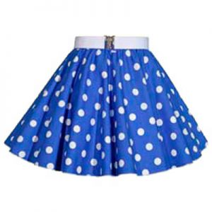 Childs Royal Blue / White PD Circle Skirt