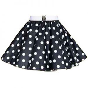 Childs Black / White PD Circle Skirt