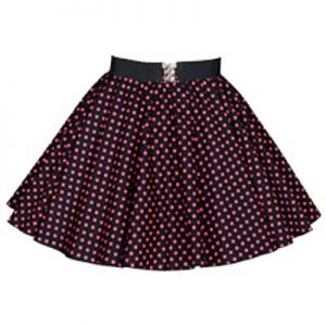 Childs Black / Pink 7mm PD Circle Skirt