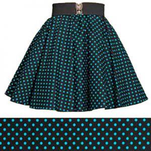Childs Blk / Turq Blue 7mm PD Circle Skirt