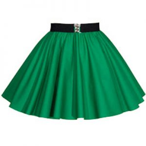 Childs Plain Emerald Green Circle Skirt