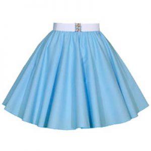 Childs Plain Light Blue Circle Skirt