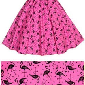 Sale – 21″(Small) Pink Flamingos Circle Skirt