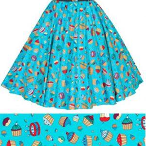 Childs Blue Cupcakes Print Circle Skirt