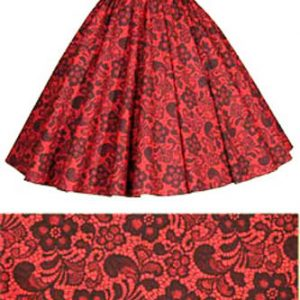 Sale 16″ Red/Black Lace Circle Skirt (XS) Free nchief
