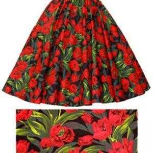 Tulips Print  Circle Skirt