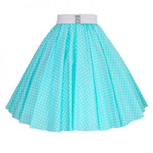 Mint /White 7mm Polkadot Circle Skirt
