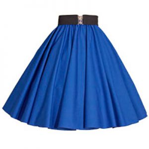 Plain Royal Blue Circle Skirt