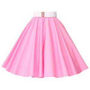 Plain Sugar Pink Circle Skirt