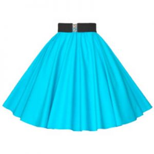 Plain Peacock Blue Circle Skirt