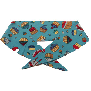 Blue Cupcakes Print Neckerchief