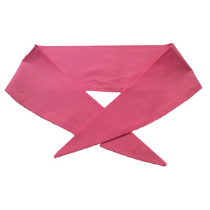 Ladies Plain Pink Neckerchief