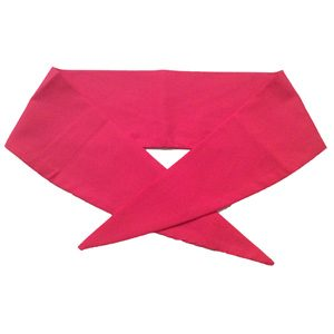 Ladies Plain Red Neckerchief