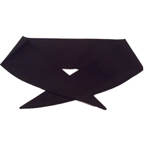 Ladies Plain Black Neckerchief