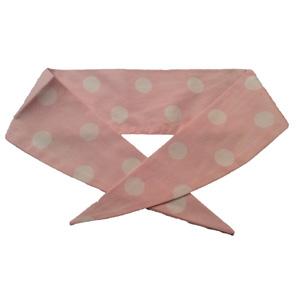 Ladies Pale Pink / White PD Neckerchief