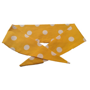 Ladies Yellow / White PD Neckechief
