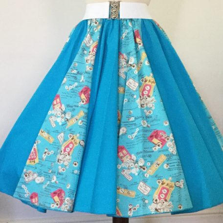 Turquoise Labels / Plain Turquoise Panel Skirt
