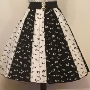 Wht Small MN / Blk Small MN Panel Skirt