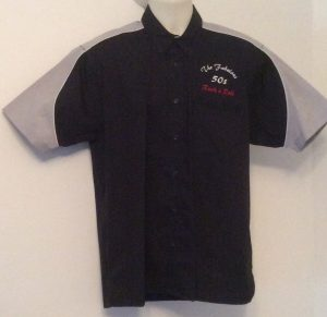 Ready Embroidered 186 Black / Grey Shirt (Size Medium)